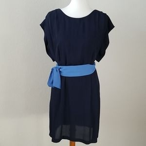 Navy pocketed dress